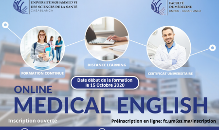 Lancement des inscriptions au Certificat Universitaire « Medical English » en ligne