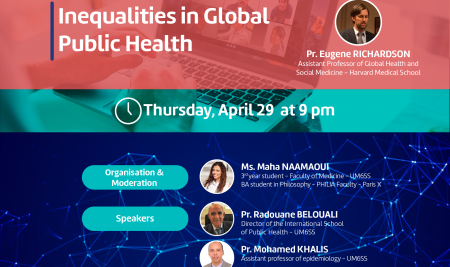 The UM6SS is organising a Digitalk titled «Inequalities in Global Public Health»