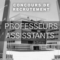 Concours de recrutement de Professeurs Assistants
