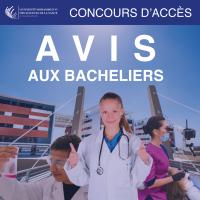 Avis aux bacheliers – Calendrier des concours d'accès