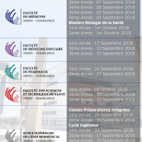 Calendrier de la rentrée 2018/2019