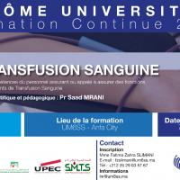 """Lancement du Diplôme Universitaire """"Transfusion Sanguine"""""""
