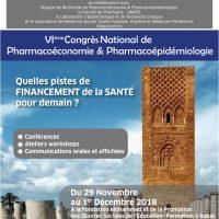 VIème Congrès National de Pharmacoéconomie & Pharmacoépidémiologie