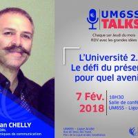 UM6SS Talks #2 – L'Université 2.0, le défi du présent… Pour quel avenir ?