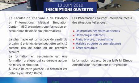 Faculté de pharmacie : Inscriptions ouvertes à la formation secourisme