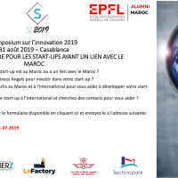 Appel a candidature pour les start-ups ayant un lien avec le Maroc : Symposium sur l'innovation 2019