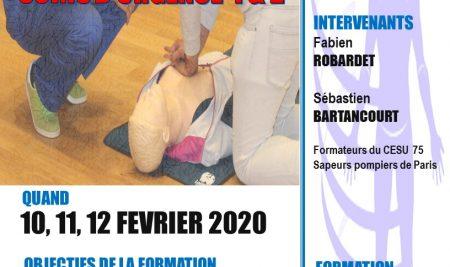 """Formation certifiante en """" Soins et gestes d'urgences 1 & 2″"""