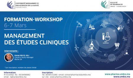 """Formation – Workshop """" Management des études cliniques"""""""