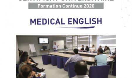 """Lancement du certificat d'université """"Medical English"""""""