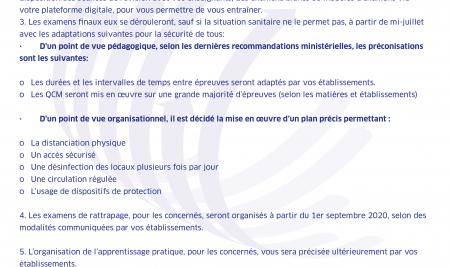 COMMUNIQUE DE LA PRESIDENCE DE L'UM6SS DU 19/05/2020