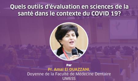 """La FMD de l'UM6SS organise un webinar sur : """"Quels outils d'évaluation en sciences de la santé dans le contexte du COVID 19 ?"""""""