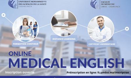 """La Faculté de Médecine de l'UM6SS lance le Certificat Universitaire """"Medical English"""""""